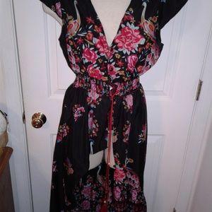 XL flowy rockabilly flowy beach dress